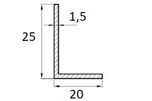 profil L 25×20