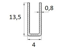 profil U 13,5×4